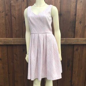 Calvin Klein Brocade Fit & Flare Dress